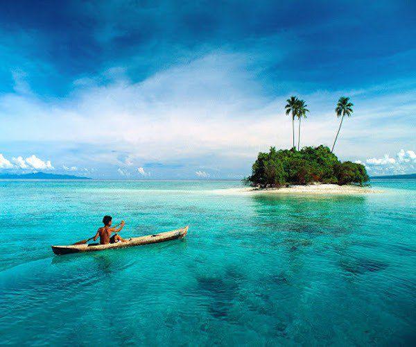 بالصور  المياه الزرقاء والطبيعة البكر في جزر الفردوس التي لم يزرها إلا القليلون - سنيار