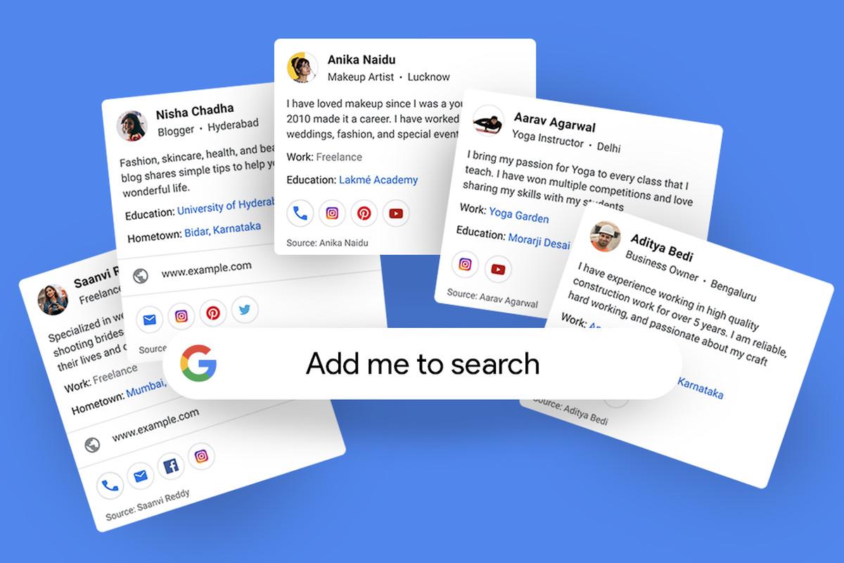 جوجل تختبر نظام بطاقات جديدة للملفات الشخصية العامة للمستخدمين يُسمى People Cards